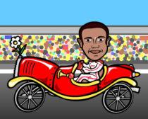 Lewis Hamilton caricature