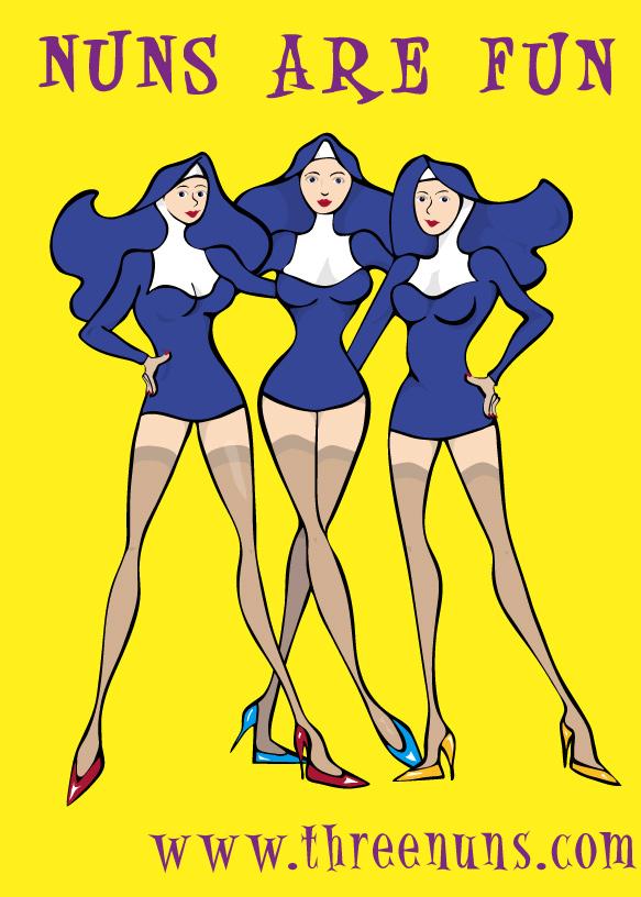 saucy nuns cartoon