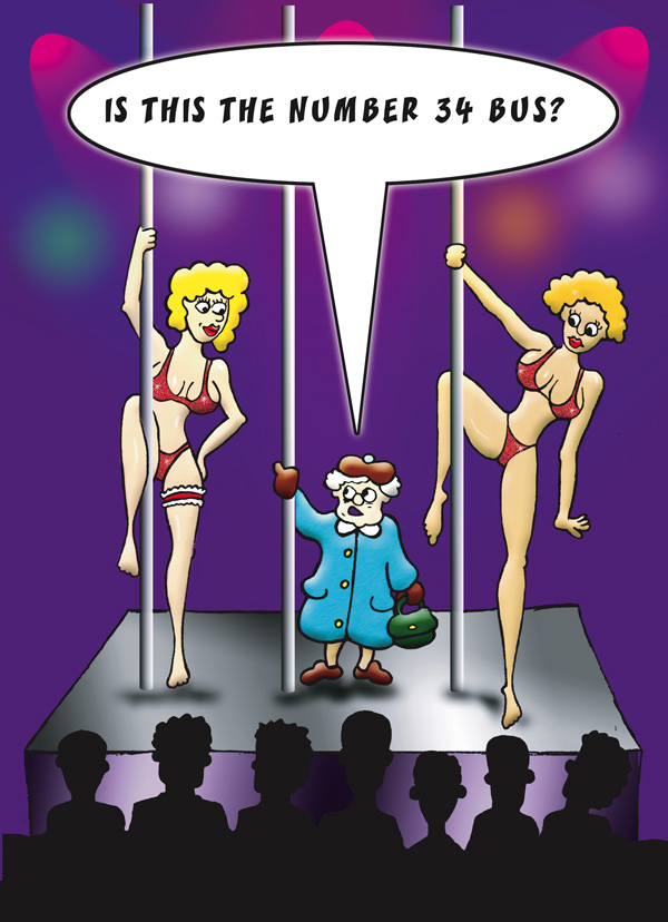 Pole dancing cartoon