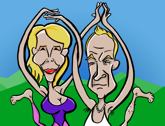 Sting caricature Cartoon - the line up