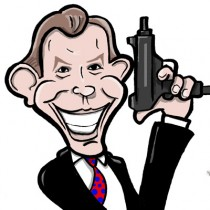 Tony Blair cartoon